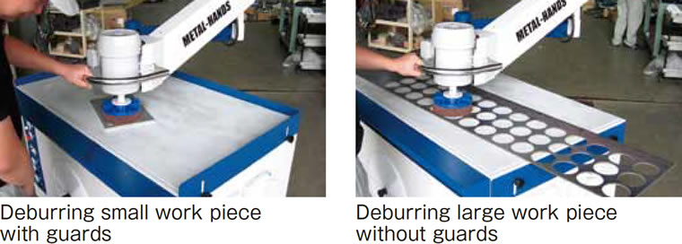 Deburring for small products・ for large products by guard surroundings
