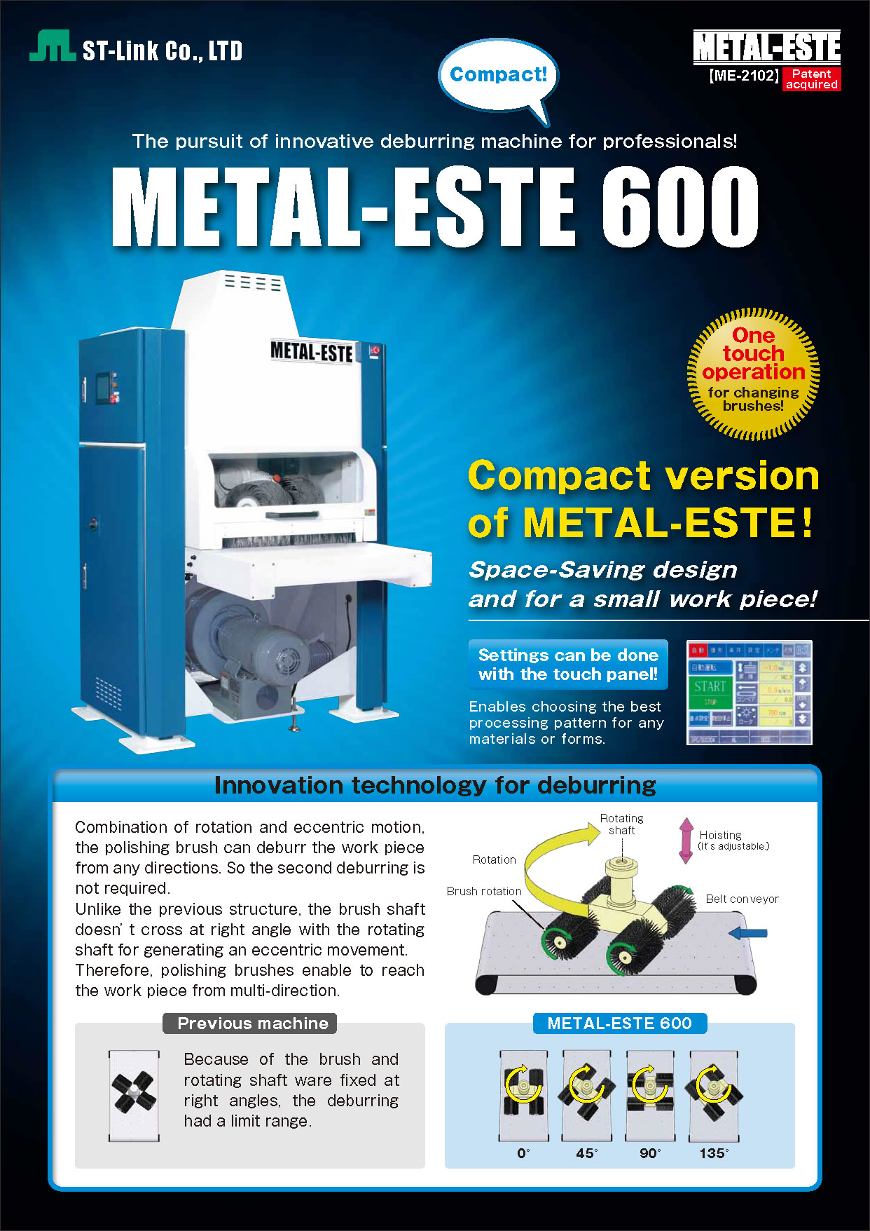 Deburring Machine | Metal-ESTE600S Catalogue(PDF)